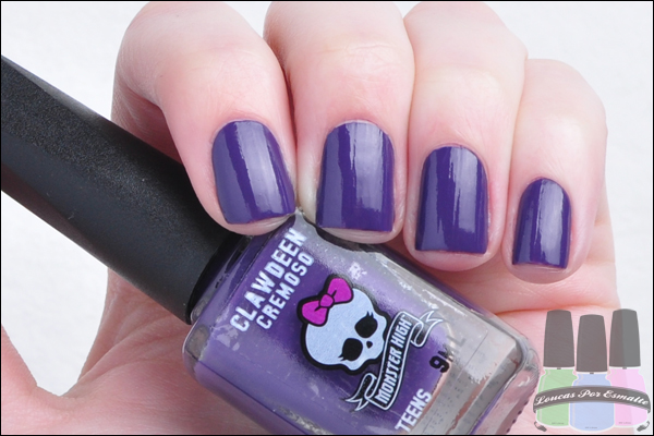 Esmaltes Monster High Kit Cremosos Clawdeen
