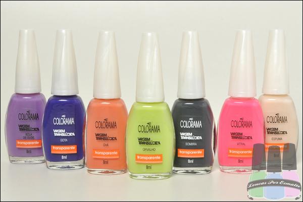 Colorama Esmaltes Coleções NFW Beauty Trends Viagem Translúcida