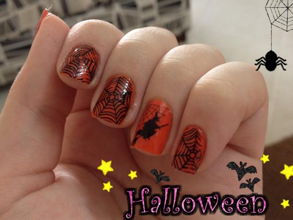 Unhas de Halloween