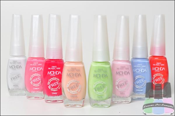 Coleção FREE Candy Colors Esmaltes Mohda