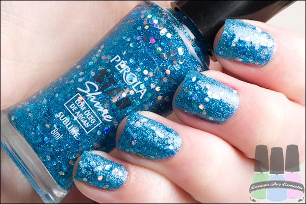 Coleção Star Shine Esmaltes Glitter Super Pérola