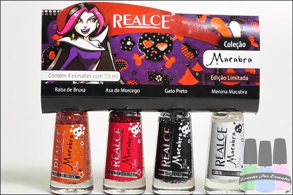 Coleção Esmaltes Macabra Realce glitter