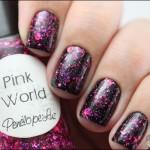 Pink World sobre preto