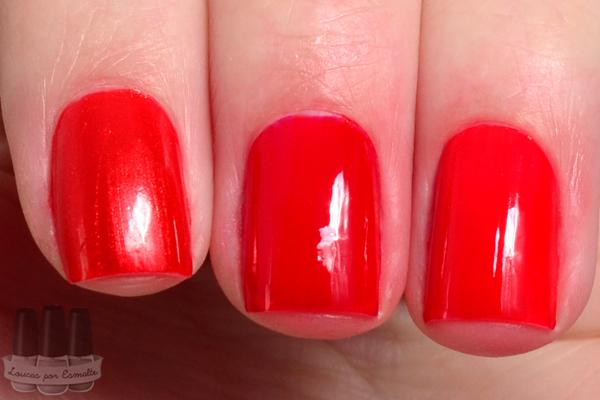 Esmaltes blant colors avermelhou vermelhos