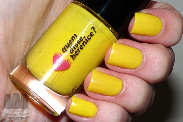 Esmalte amarelosil quem disse, berenice