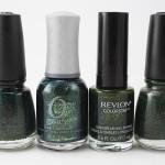 Comparação: verdões com glass flecks