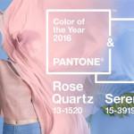 As cores para 2016: Rose Quartz e Serenity