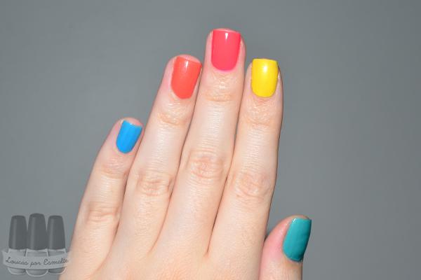 skittle nails coloridas esmaltes cores