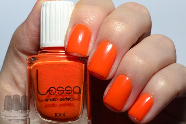 esmalte neon laranja